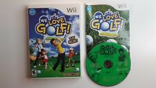WE LOVE GOLF Wii Complete CIB w/ Box, Manual Good - FAST N FREE SHIPPING !!