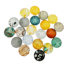 10-50PCS Assorted Size Rock Grain Pattern Flatback Glass Cabochon DIY Findings