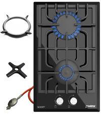 Domino-GL Cuisinière à Gaz Montage Cuisson Verre 2 Flame Autonome LPG / Edrgas