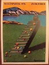 Milton Glaser, Weltspartag Sparkasse Surreal Pop Art Advert Mini Poster 1976 39