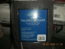 New Queen Tailored Bed Skirt Queen Size 60'' By 80'' Drop Length 14''