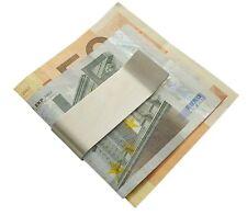 ELEGANTE GELDSCHEINKLAMMER GELDKLAMMER DOLLARCLIP MONEYCLIP GELDCLIP SILBER NEU