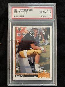 1991 Upper Deck Brett Favre Atlanta Falcons #13 Football Card PSA 10