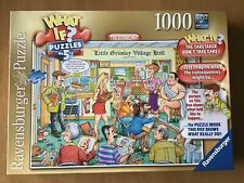 """Ravensburger 1000 Piece Jigsaw """"What If Puzzle No 5 The Village Hall"""""""