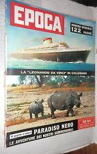 EPOCA 14 dicembre 1958 Nave Leonardo Da Vinci Delia Scala Shanaz di Persia di e