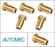 "AUTOMEC Brake Pipe Brass Union Fittings Male 3/8"" UNF x 24tpi for 3/16 Pipe (5)"