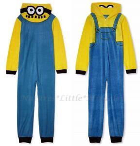 Minion Pajamas Size 6-7 8 Boys One Piece Union Suit Blanket Sleeper Costume Girl
