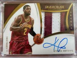 2014-15 Panini Immculate Kyrie Irving Auto #2 /25 Read