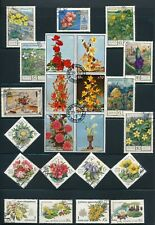 FLOWERS: **85+ ALL DIFFERENT MH & USED** INCL BLOCK OF 6; *PRETTY STAMPS*