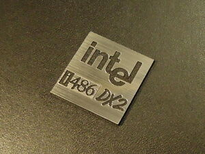 Intel 486 DX2 Label / Logo / Sticker / Badge 25 x 25 mm [285c]