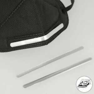 Nose Bars for Face Masks Iron On Aluminium 90mm x 5mm Pack of 10