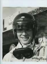 Dan Gurney Eagle F1 retrato holandés Grand Prix 1966 Firmado Fotografía Vintage