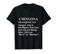 Chingona Chicana Feminist Black T-Shirt S-3XL