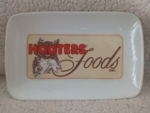 Hooters Foods Inc. Wing Appetizer Tray Plate Serving Dish 6x9 Ceramic