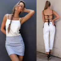 Women Backless Tank Tops Sleeveless Vest Blouse Bralette Bra Cami Crop Tops