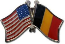Usa - Belgium Friendship Crossed Flags Lapel Pin - New - Country Pin