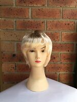 MENS Blonde WIG Fancy Dress Party Costume Accessory 70s 80s Short Hair