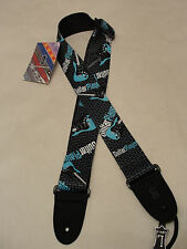 """LEVY'S MP-GP 2"""" WIDE GUITAR PLAYER DESIGN POLYESTER SUBLIMATION GUITAR STRAP"""