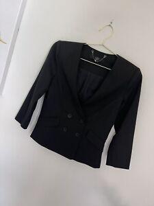 Tibi New York Two Button Wool Blazer 3/4 Sleeve S