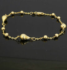"9carat Yellow Gold 7"" Charm Bead Bracelet"