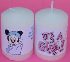 14 PERSONALIZED BABY SHOWER PARTY FAVORS VOTIVE CANDLE LABELS STICKERS SUPPLIES