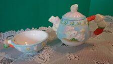 Teapot Rabbit Bunny Tea Pot Cup Ceramic