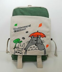 Ghibli Totoro Canvas Bag High Quality Rucksack Satchel Anime Bag School Backpack