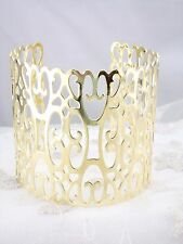 Gold Openwork Cuff Bracelet Wide Fashion Jewelry NEW Pretty!