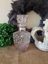 SHABBY CHIC PINK GLASS HOME DECOR BOTTLE