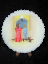 "Fenton Art Glass 1983 LIMITED EDITION CHRISTMAS FANTASY SERIES 8"" HP PLATE"