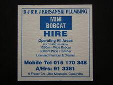 DJ & KJ KRISANSKI PLIMBING LITTLE MOUNTAIN 913381 CALOUNDRA RSL CLUB COASTER
