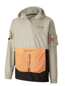 Puma X First Mile Utility Windcell Men's Sz XL Running Hooded Jacket Active Top