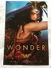 "WONDER WOMAN - 11.5""x17"" Original Promo Movie Poster 2017 MINT DC Gal Gadot"