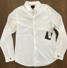 Elson Quiksilver Dress Shirt - Size M - VINTAGE - Brand New - White - Australia