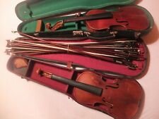 2 alte Geigen violins 16 alte Geigenbögen antique bows