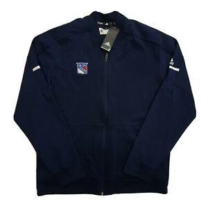 Adidas New York Rangers Jacket Sweatshirt Hockey Full-Zip Rink Men's XL NHL NWT
