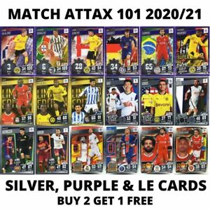 MATCH ATTAX 101 2020/21 20/21 SILVER AND PURPLE FOIL CARDS - CHOOSE YOUR CARDS