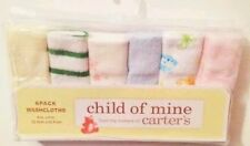 Child of Mine By Carter's Baby Washcloths - 6 Pack (Colors May Vary)