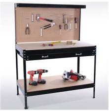 Steel Workbench With Drawers And A Handy Pegboard 4 Colours Solid, DIY