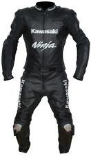 Kawasaki Motorcycle Riding Suit cowhide Leather Suit Motorbike Racing motogp