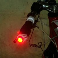 Bicycle Handlebar Led Lights Bike Turn Signal Warning Plug Safety Aluminum Alloy