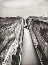 1934 Vintage 11x14 GREECE Corinth Canal Aegean Sea Landscape Photo Art HURLIMANN