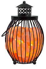 Himalayan Glow 1342 Salt Rock Crystals Basket Lantern Night Light Lamp, 8.8 lb
