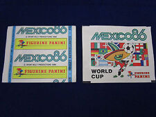 Panini WM WK WC 1986 Mexico 86, 1 packet/Tüte/bustina, rare,very good/sehr gut