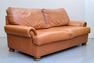 2 SEATER PICASSO CHESTNUT BROWN LEATHER SOFA JONH LEWIS /ARMCHAIR  AVAILABLE