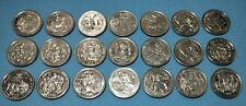 Full set of 21 Millennium Medal Collection tokens 1999 (Woolworths NZ issued)
