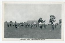 Learning to signal BARRIEFIELD CAMP Kingston Ontario Canada 1914-18 George Clark