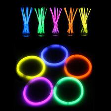 Bracciali luminosi fluorescenti 15 pz starlight braccialetti fluo colorati feste