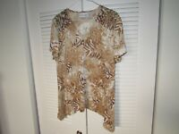 Women's Alfred Dunner animal print blouse size XL top