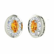 Natural White Golden Topaz Gemstone 925 Sterling Silver Men's Cufflinks